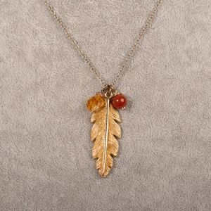 Leila Feather Necklace